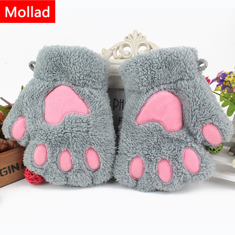 mollad 2018 ladies winter fingerless gloves fluffy bear. Black Bedroom Furniture Sets. Home Design Ideas