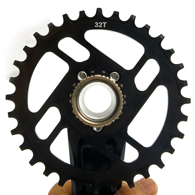 цена на 32/34T 170mm CNC 7075 Aluminum Alloy Narrow Wide Chain Wheel for Bicycle Crankset with Bracket Bottom