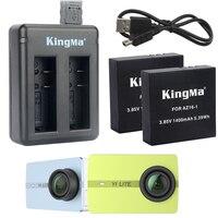 1400mAh AZ16 1 Battery For Xiaomi Xiaoyi Yi Lite 4K 4K 360 VR LED 2 Slots