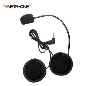 Image 3 - Vnetphone 3.5mm Microphone Speaker Headset And Helmet Intercom Clip for V4 V6 Motorcycle Bluetooth Interphone