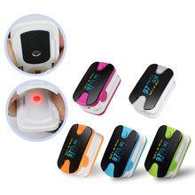 Портативный цветной OLED палец 5 цветов Пульсоксиметр 4 параметра SPO2 PR PI Монитор скорости дыхания