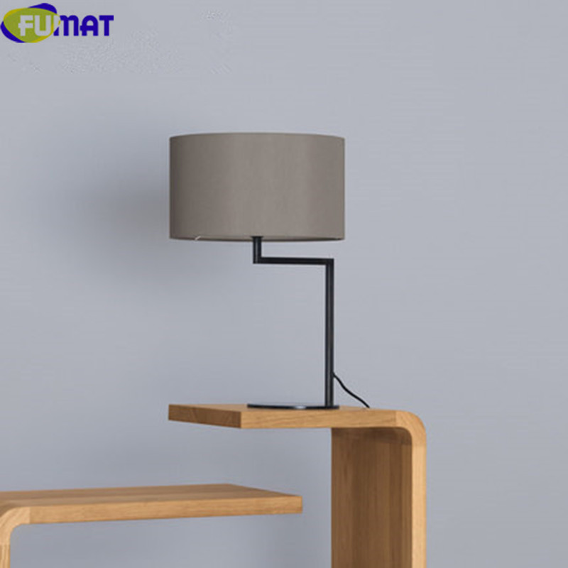 FUMAT Modern Table Lamps For Bedroom Bedside Desk Lamp Simple Table Lamp  Office White Black Grey Cloth Fabric Table Light  In LED Table Lamps From  Lights ...