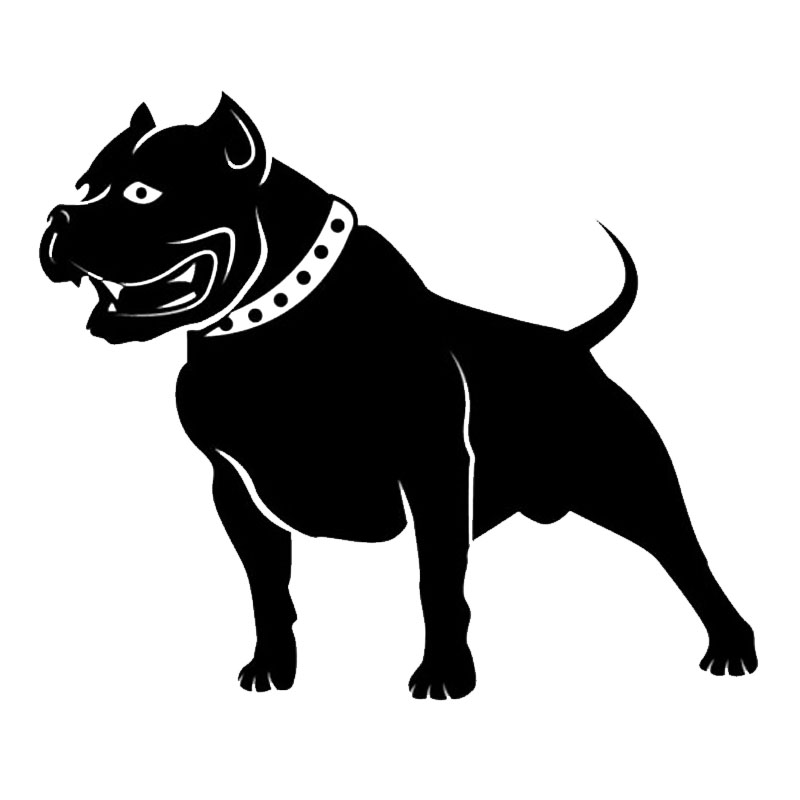 Оптовая 5шт,10шт,13.7*11.7 см питбуль Черная собака автомобиля наклейки симпатичные Водонепроницаемый винил наклейка автомобиль для укладки украшение бампера