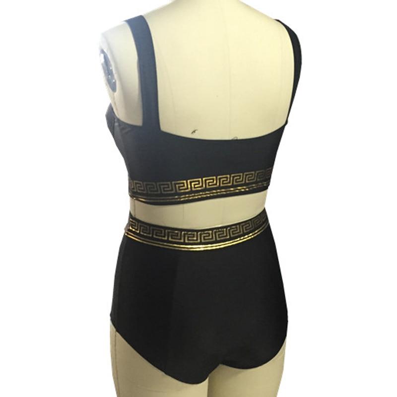 Dames Zwemkleding 2017 Nieuwste Hoge Taille Bikini Set Push Up Sexy - Sportkleding en accessoires - Foto 3