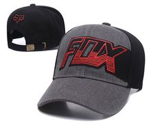 FOX Letter Embroidery Baseball Cap  Canvas  Adjustable Motor Sports Snapback Hat Fashion Streetwear Hip Hop Man Woman Visors
