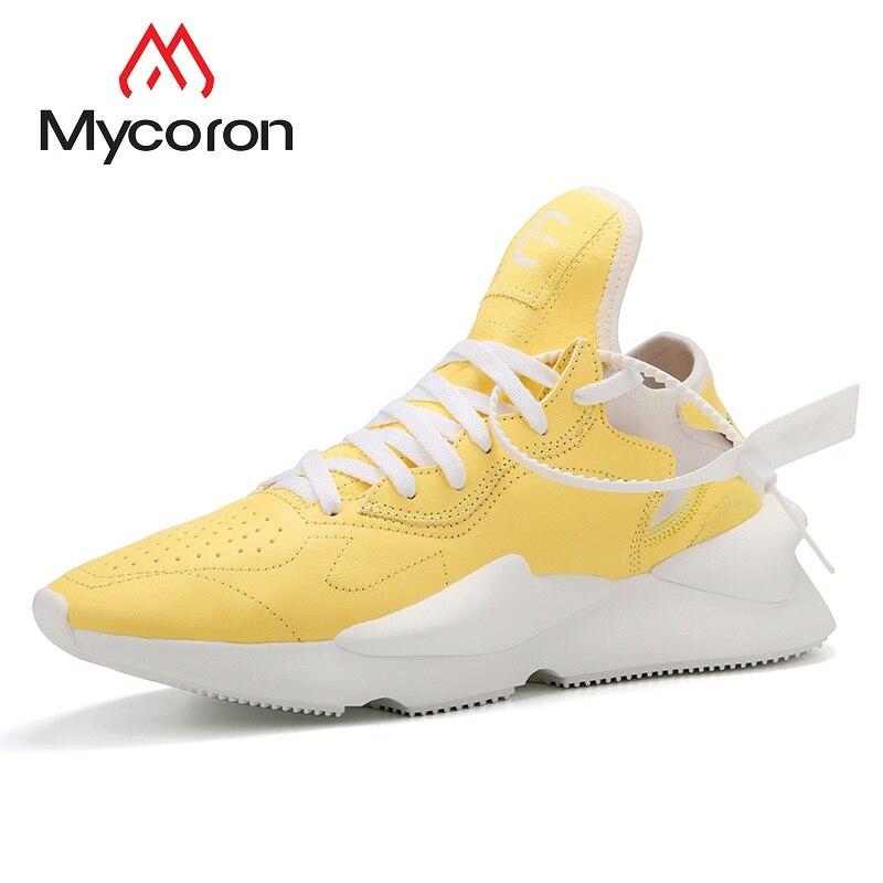 Casuais Masculino Botas Primavera Dos 2018 Confortáveis Luz Masculinos Lace Sapato Amarelo Homens Sapatos up Respirável Altura Mycoron Crescente qgzaHx