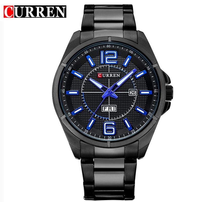 CURREN Brand Men Watches Luxury sport Quartz 30M waterproof watches men's stainless steel band auto date wristwatches relojes