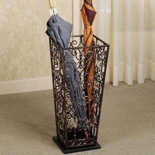 Parapluie en fer forgé se ménage carré de seau de stockage parapluie Français parapluie baril vintage