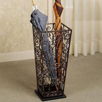 Wrought iron umbrella stand household storage bucket square umbrella French umbrella barrel vintage