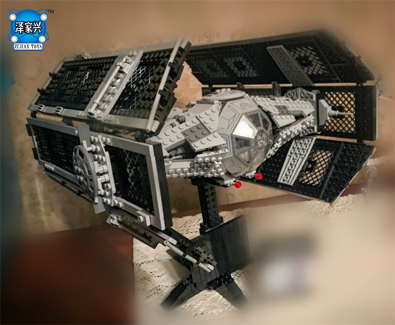 1212pcs Star Space The Rogue One USC Vader TIE Advanced Fighter Set Building Blocks Bricks Educational War lepin 05060 the rogue one usc naboo style fighter set 10026 star series wars 187pcs building blocks bricks educational toys