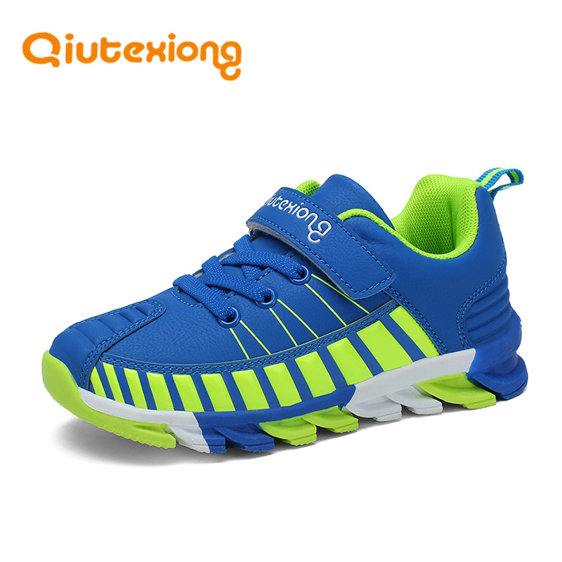 QIUTEXIONG Boys Sneaker Girls Shoes For Kids Children Shoes Breathable Comfortable Trainer Running Sport Lightweight Brand Shoes forudesigns kids sport shoes boys girls for children walking cycling running nebula pringting lace up sneaker shoes outdoor