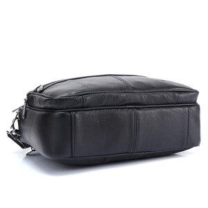Image 5 - ZZNICK メンズメッセンジャーバッグ高級本革男性バッグデザイナー高品質ショルダーバッグカジュアルジッパー事務所バッグ男性