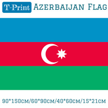 Free shipping 15x21cm 40x60cm 60x90cm 90x150cm Azerbaijan National flag For world cup Home Decoration banner