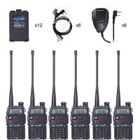 6 шт TID UV5R портативная рация VHF 136 174 МГц и UHF 400 520 Любительское радио МГц двухстороннее приемопередатчик