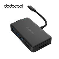 dodocool USB Hub 8 in 1 Multifunction Type c Hub 4K HD Gigabit Ethernet Adapter USB 3.0 Hub For Samsung Galaxy S9 Huawei P20 Pro