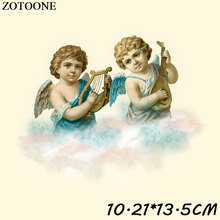 ZOTOONE Iron On Angel Patches For Clothes T-shirt Stickers Transfer Heat Press Cloud Patch Applique DIY Accessory C