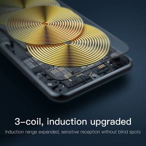 Image 5 - Baseus 10W 3 Coils Wireless Charger For iPhone 11 X/XS XR Multifunction Qi Wireless Charging Pad Horizontal/Vertical Charger Pad