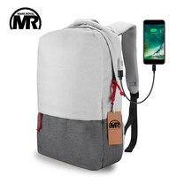 MARKROYALภายนอกUSBค่าใช้จ่ายแล็ปท็อปกระเป๋าเป้สะพายหลังกันน้ำR Ucksackกระเป๋าคอมพิวเตอร์โน้ตบุ๊ค15.6นิ...