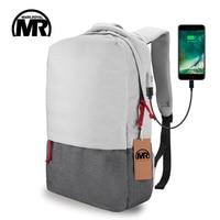 Markroyal External USB Charge Laptop Backpack Waterproof Rucksack Notebook Computer Bag 15 6 Inch For Women