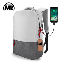 Markroyal External USB Charge Laptop Backpack Waterproof Rucksack Notebook Computer Bag 15 6 Inch For Women