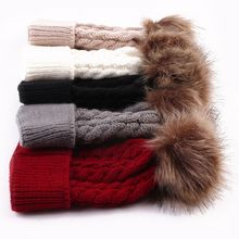 1 pcs Cute Boys Girls Winter Warm Hat Fur Ball Pom Pom Cap Kids Winter Knitted Wool Hats Caps for Boys Beanies nouveau ne