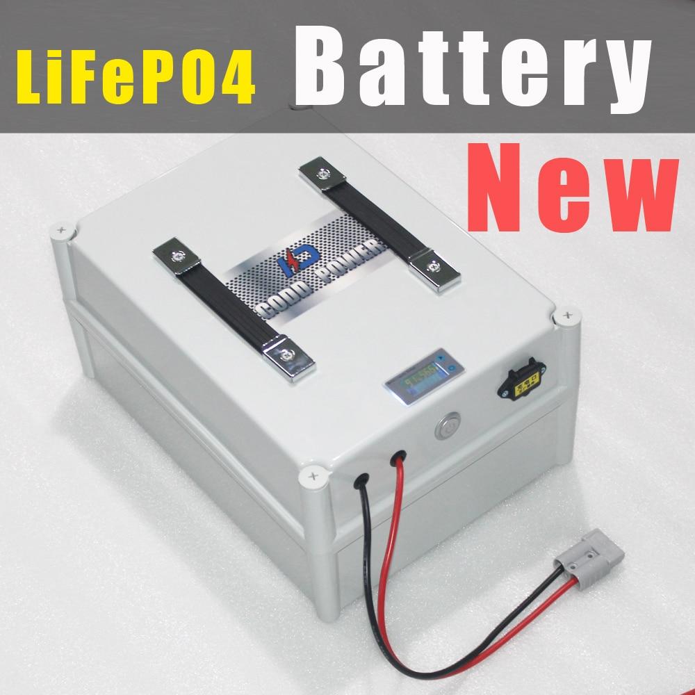 5 pz 8 s 25.6 v 80Ah LiFePO4 Batteria Scatola Portatile con BMS ED IL Caricatore
