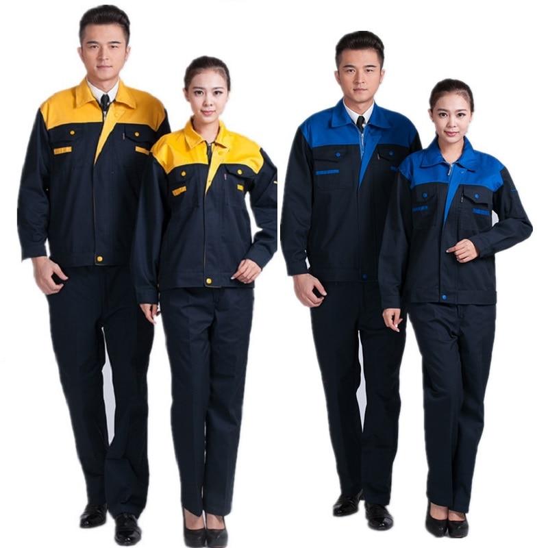 Worker Clothing Workwear Clothes For Men Women Workmen Factory Uniform Wear-resistant Repairman Auto Car Workshop Welding Suits
