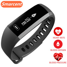 SMARCENT Original R5 PRO Smart Band Heart rate Blood Pressure Oxygen Oximeter Sport Bracelet Watch intelligent For iOS Android