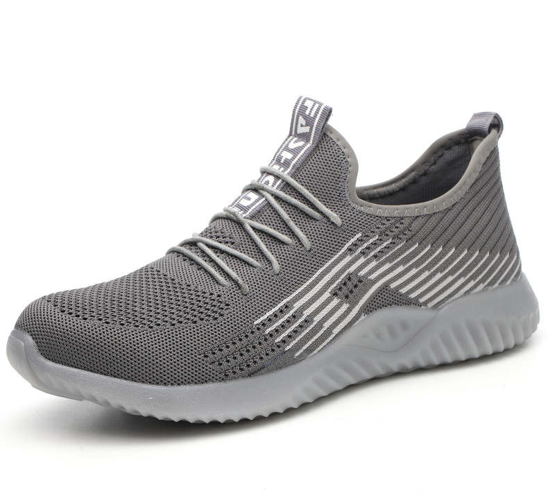 Image 3 - Flyknit Breathable Steel Toe Cap Work Safety Shoes Outdoor Men Anti slip Deodorant Steel Puncture Proof Construction-in Safety Shoe Boots from Security & Protection