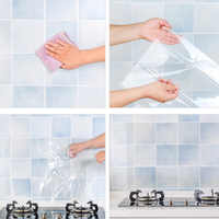 Ant Oil Paste High Temperature Kitchen Self Adhesive Bathroom Tile Foil Waterproof Transparent Wall Stickers