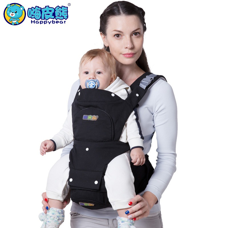 Us 47 9 Happybear Multifunction Baby Carrier Backpack Organic Cotton Breathable Mesh Sling For Newborn Baby Chicco Wrap Rider Canvas In Backpacks