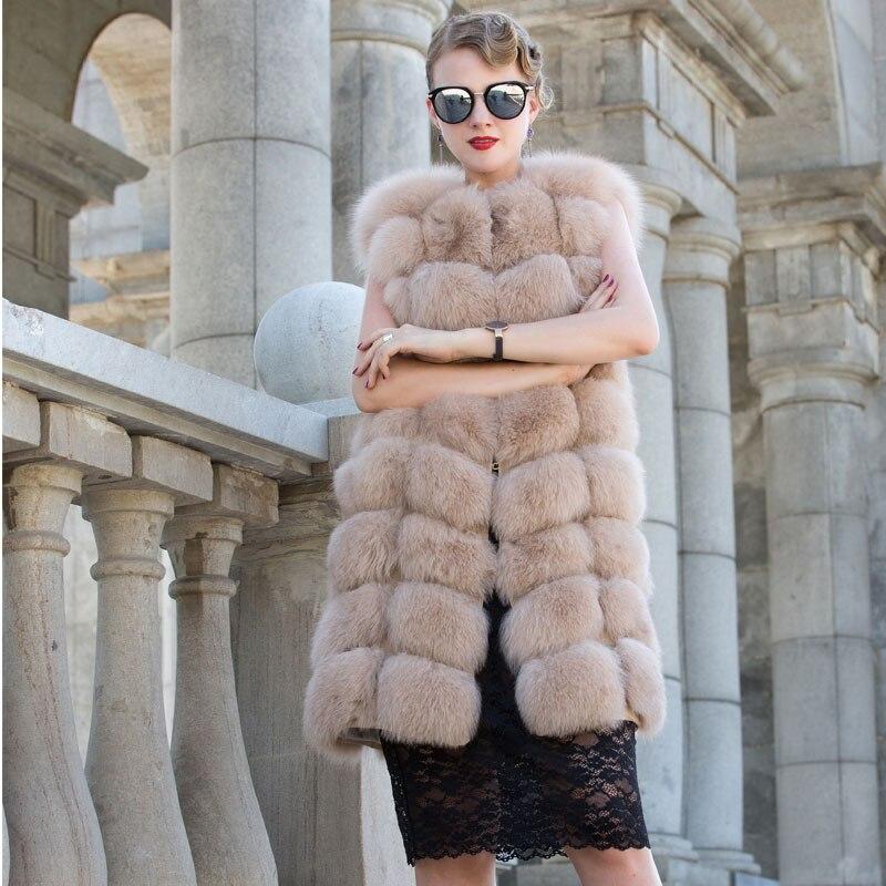Новый стиль натуральный Лисий Мех круглый воротник леди меховой жилет Прямая продажа с фабрики может быть настроен QD. YISHANG