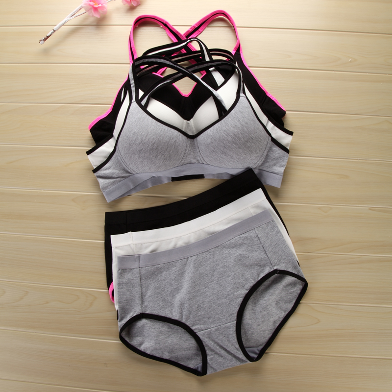 Adolescente underwears pequeno sutiã yoga crianças sutiã