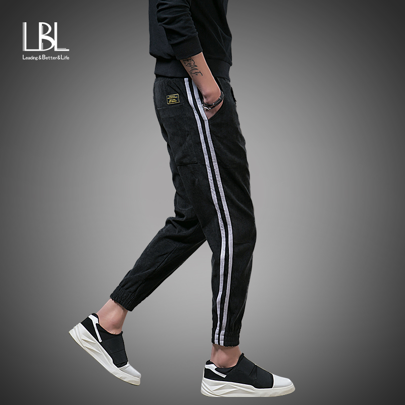 Mens Joggers Striped Pants 2018 New Fashion Tracksuit Bottoms Men Casual Pants Cotton Sweatpants Gyms Clothing Pantalones Hombre