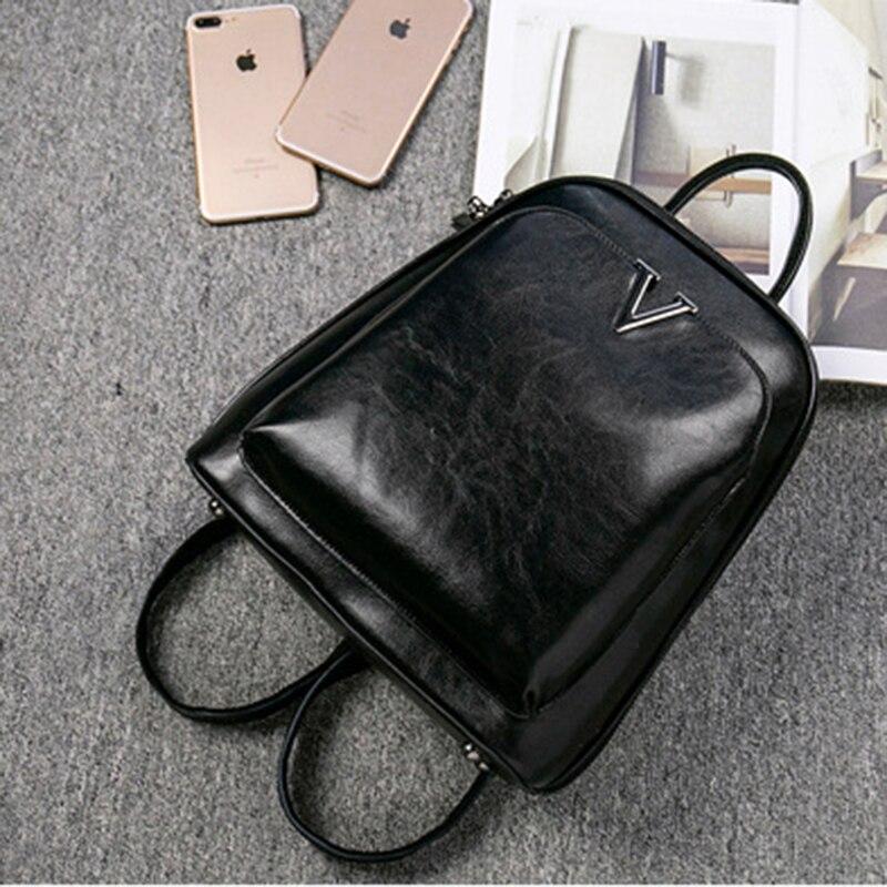 Oil Wax Genuine Leather Women Backpack Cross Body Shoulder Bags Cowhide School Daypack Fashion Retro Female Rucksack Knapsack #5