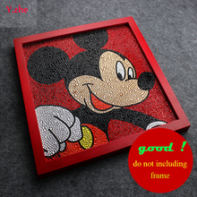 Good Mickey Mouse Painting Diy 5D Diamond Disny Full Embroidery  Round 3 Sizes Rhinestone 30*30cm