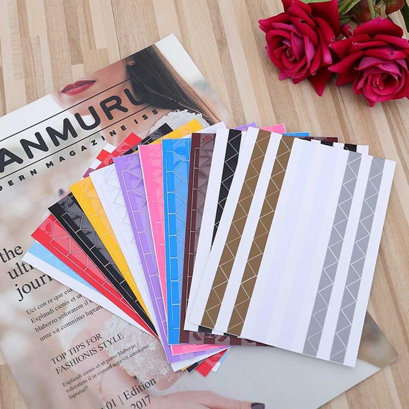 1 Blatt = 102 Pcs Mini Hohe Hand-made Material Album Decor Aufkleber Retro Pvc Foto Ecke