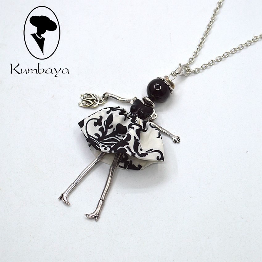 Fashion necklace for women new arrival black dress doll for Jewelry accessories for black dress