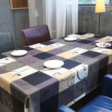 Rectangular Tablecloth Floral PVC Waterproof European for Insulate Plaid TV Cabinet-Decor-Cover