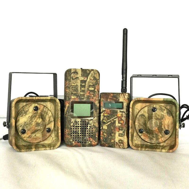 Chamador de caça chamador brid 300-500m remoteremote controle 2*50 w alto-falante externo eletrônica animal chamador para a caça
