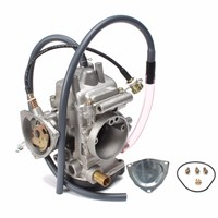 Motorcycle Engine Carburetor Carb Kit Replacement For Yamaha ATV Grizzly 450 4WD 2007 2012 Silver Overall Size 145mm