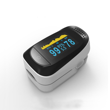 OLED Ujung Jari Pulse Oksimeter Oxymeter Spo2, PR Memantau Oksigen Darah Meter