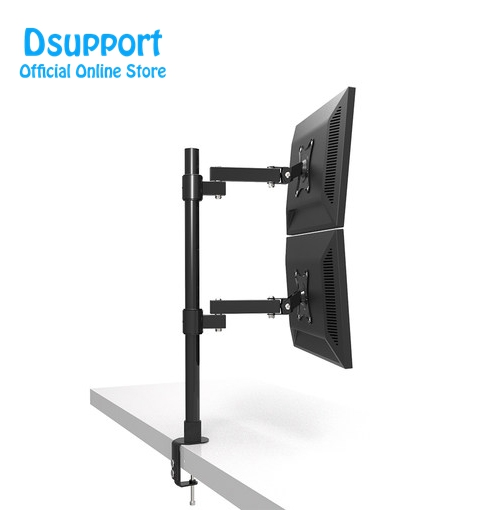 Desktop Clamping 13 27 quot Dual Screen Monitor Holder Long Arm Monitor Mount Retractable Rotation LCD TV Mount Rack Arm Base in TV Mount from Consumer Electronics