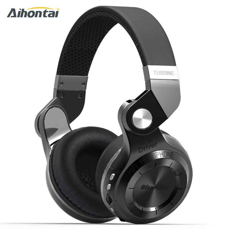 ФОТО Original Bluedio T2+ Wireless Bluetooth 4.1 Stereo Headphone Headset Earphone Foldable Stretchable Support TF Card FM For Music