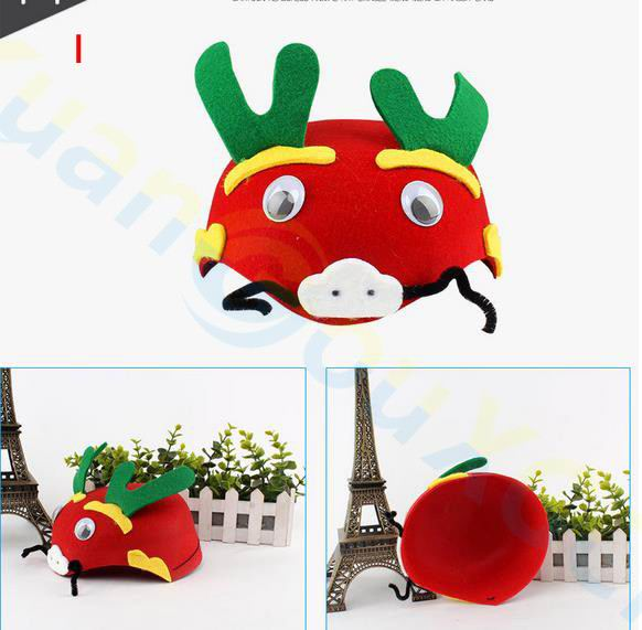 20pcs children Halloween Christmas kids adult Party props Cosplay Costumes 3D hat birthday Kindergarten game Cartoon animal cap in Party Hats from Home Garden