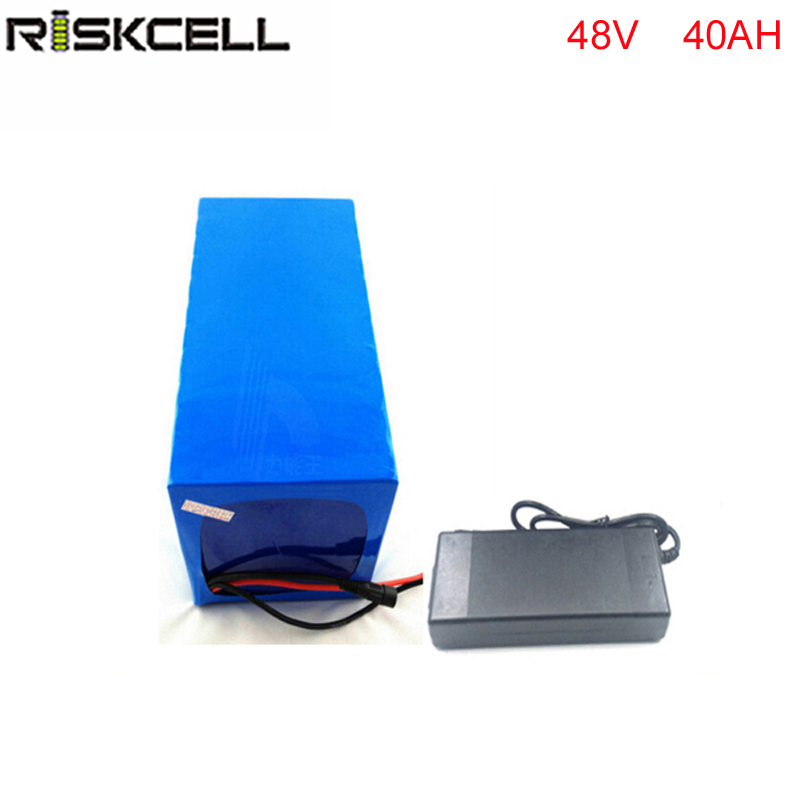 electric bike lithium ion battery 48V 40Ah lithium battery pack for 48v Bafang/8fun 2000w /750w /1000w  mid/center drive motor 48v 3000w electric bike battery 48v 40ah samsung electric bicycle lithium ion battery with bms charger 48v battery pack 48v 8fun
