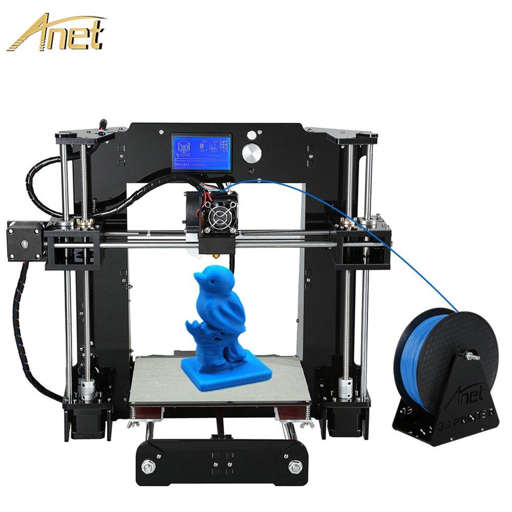 2018 actualización Anet A8 A6/Auto A6 A8 impresora 3d de alta precisión boquilla extrusora 3D impresora DIY Kit reprap Prusa con PLA filamento