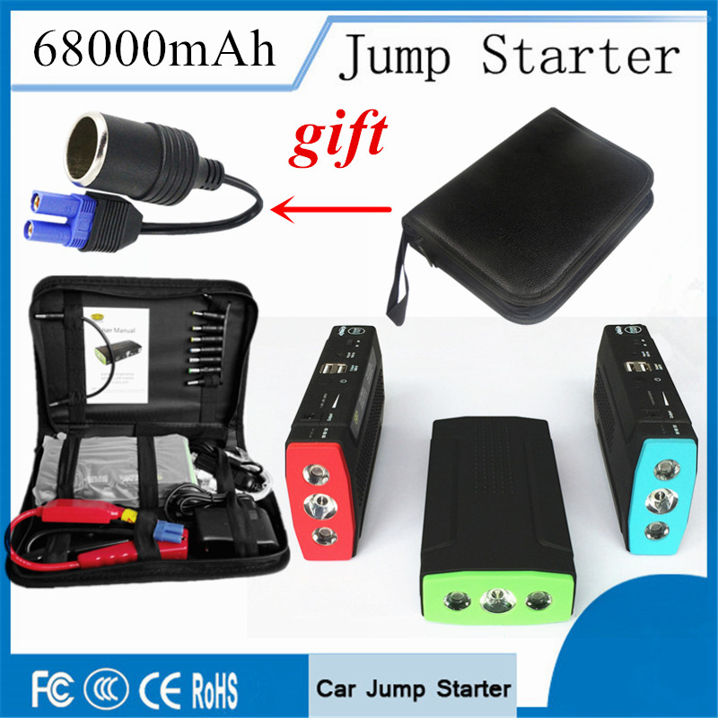 Best Car Jump Starter 68000mAh High Power Bank Portable Car Charger Multi function Start Jumper Emergency