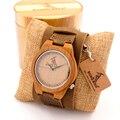 BOBO PÁSSARO De Madeira relógio de Pulso Dos Homens Mostrador do Relógio de Quartzo De Couro Marrom em Caixa de Presente de Bambu Logo Personalização Disponível Masculino hodinky