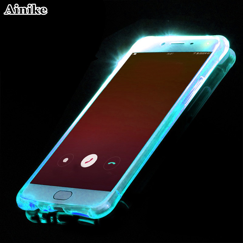 US $1 88 |Ainike For Xplay 5 LED Light Flash TPU Mobile Phone Back Case  Anti shock Incoming Call Cover For Vivo X7 X9 X20 Plus Y66 V5 Y55-in Fitted
